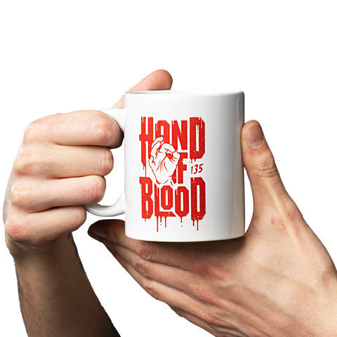 White Logo von HandOfBlood - Tasse jetzt im Hand of Blood Shop